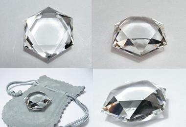 水晶カット六芒星・ヘキサグラム・ダビデの星・幸運のパワーストーン