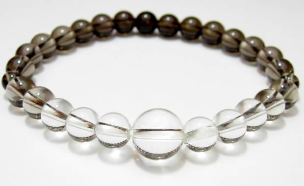 パワーストーン 茶水晶グラデーションAA級7mmブレスレット 数珠仕立て