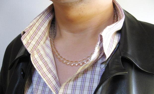 最高級 天然水晶ネックレス8mm 長さ50cm・パワーストーンのお守り水晶ネックレス