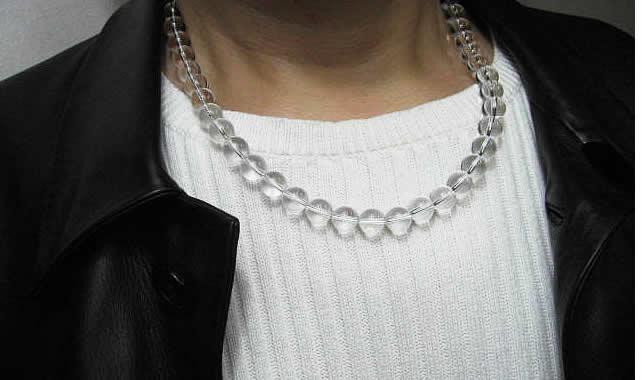 天然石水晶ネックレス10mm  50cm・パワーストーンお守りの水晶ネックレス