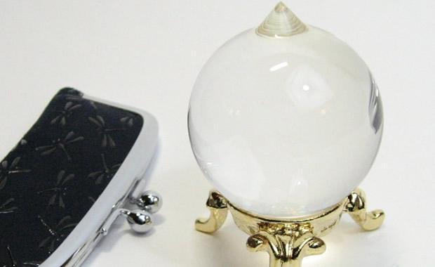 天然石 水晶如意宝珠1.4寸
