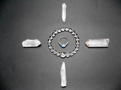 浄化用水晶ポイント原石六角柱
