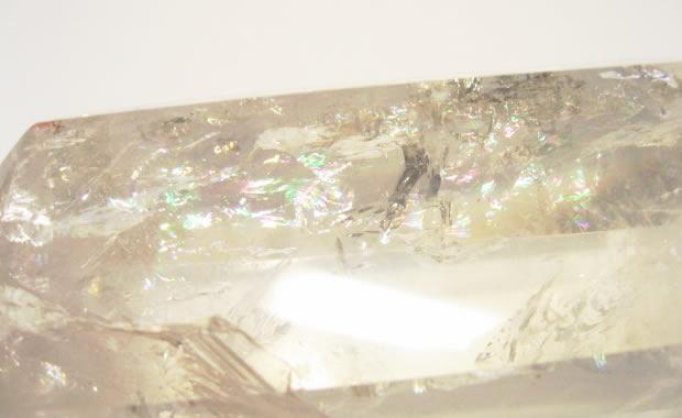 虹入り水晶ポイント大  レインボー水晶
