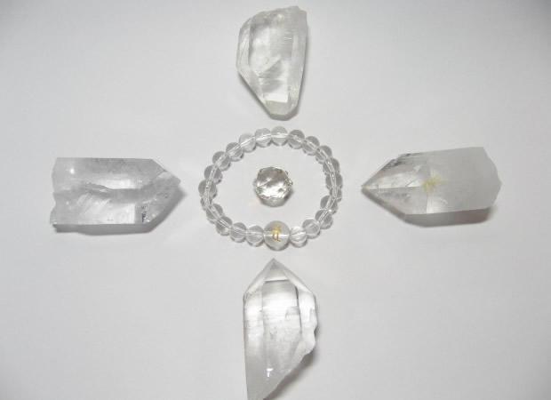 浄化用水晶ポイント原石