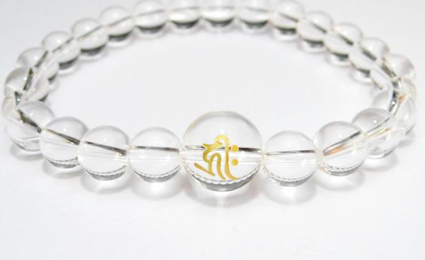 守護梵字・干支梵字水晶8mmブレスレット・数珠ブレスレット