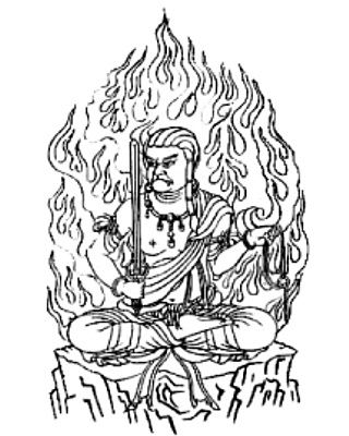 守り本尊・守護神【不動明王】守護梵字【カーン】