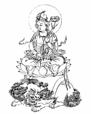 守り本尊・守護神【文殊菩薩】守護梵字【マン】