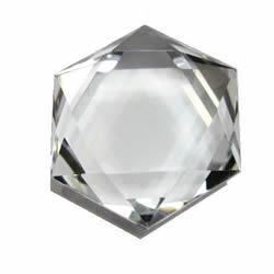 水晶・パワーストーン 幸運パワーストーン 水晶カット六芒星