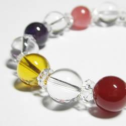 水晶ブレスレット・パワーストーンブレスレット  七色厄除け女性のためのブレスレット 女性用サイズ