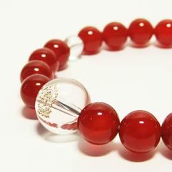 パワーストーンブレスレット   干支守護神・守り本尊 赤メノウ8mm数珠ブレスレット