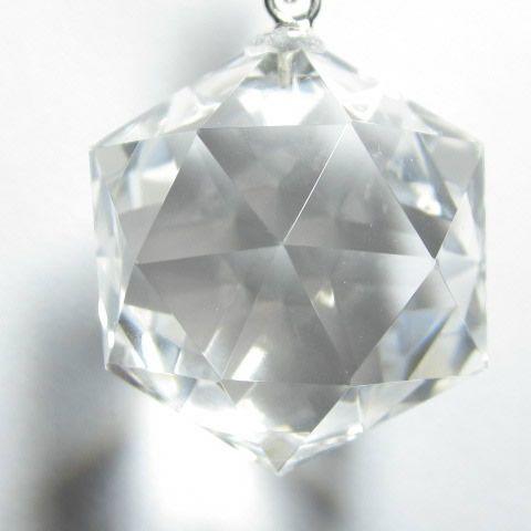 水晶六芒星ペンダントお守り・ダビデの星ネックレス