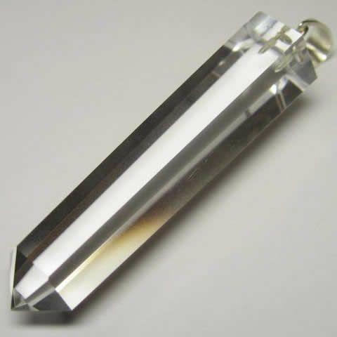 パワーストーンの水晶六角柱ペンダント・水晶ポイント ネックレス