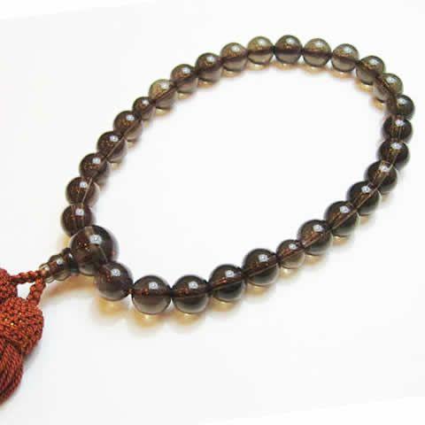 パワーストーン茶水晶の念珠 数珠