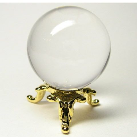 パワーストーンの水晶丸玉を通販