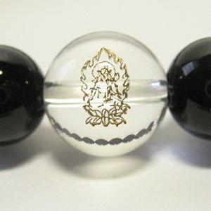 干支守護神 虚空蔵菩薩 オニキス10mm数珠ブレスレット