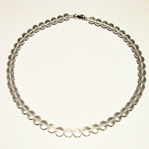 本物のネックレス・最高級天然石水晶ネックレス・パワーストーンお守りの水晶ネックレス