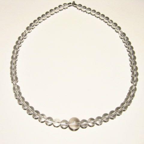 最高級天然水晶ネックレス10mm 数珠仕立て63cm・パワーストーンネックレス