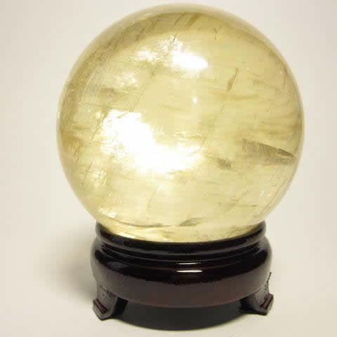 風水金運石のレインボーイエローカルサイト丸玉