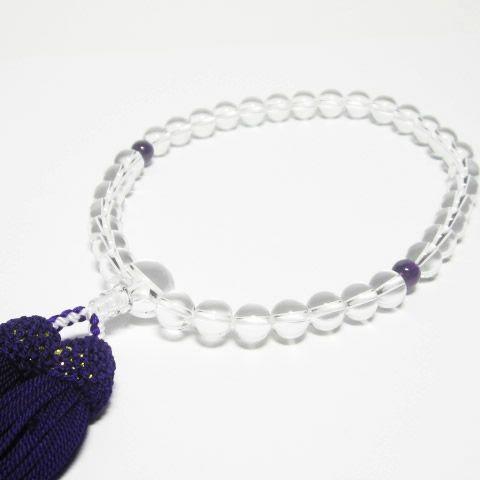 パワーストーン数珠・最高級天然水晶8mm男女兼用念珠