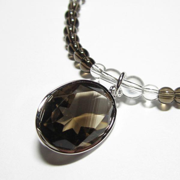 パワーストーンネックレスの茶水晶パワーストーンネックレス