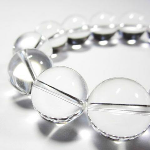 パワーストーン/天然 水晶ブレスレット 16mm