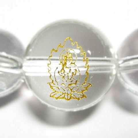 干支守護神 文殊菩薩 水晶10mm数珠ブレスレット