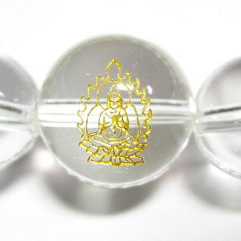 干支守護神 普賢菩薩 水晶10mm数珠ブレスレット