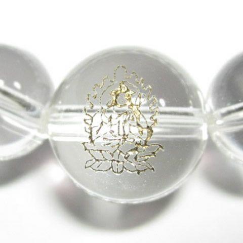 干支守護神 勢至菩薩 水晶10mm数珠ブレスレット