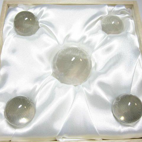 地鎮祭で水晶 埋設の四方地鎮 魔除け水晶玉42.6mmセット